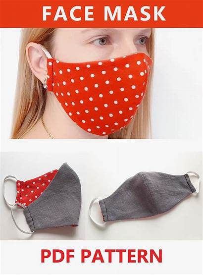 Mask Face Diy Pattern Fitted Sewing Adults