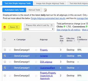 New Adalysis Features  Manually Save Results  Ad