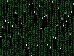 Animated Matrix Binary Code