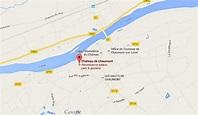 Map of Chaumont sur Loire Castle
