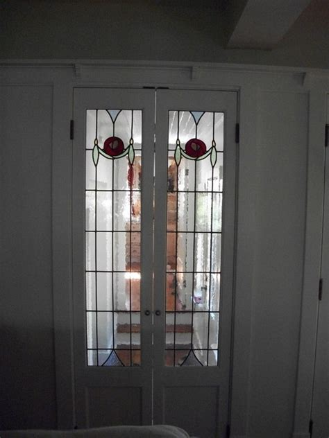 leaded glass door inserts traditional hall toronto