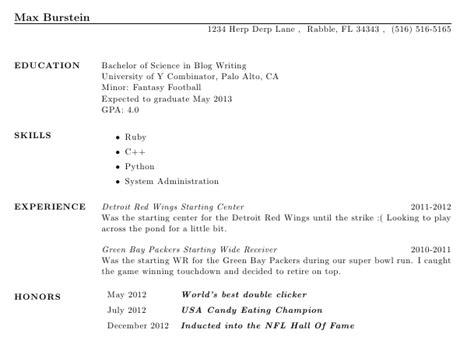 creating a resume using max burstein s