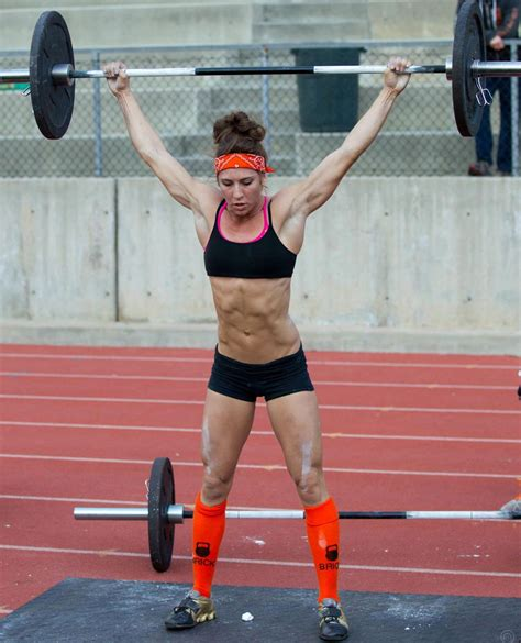 crossfit during pee andrea ager games squat snatch athletes female motivation fitness ass got athlete cross swings results lift front