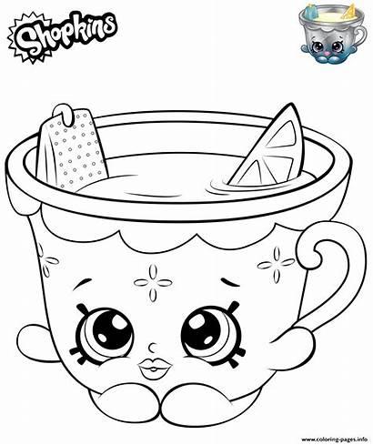 Coloring Shopkins Pages Lemon Teacup Honey Printable