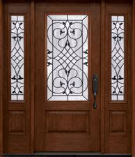 clopay rustic collection stained cherry fiberglass front