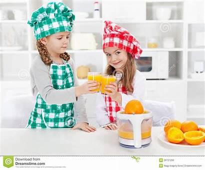Chefs Juice Fresh Orange Making Clinking Proudly