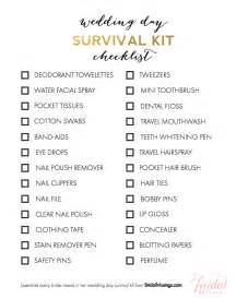 bridal registry ideas list items every needs in wedding day survival kit