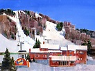 Bromley Mountain - Painting by Vermont Artist Peter Huntoon