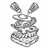 Coloring Sandwich Objects Breakfast Outlines Colazione Prima Panino Printable Illustrazione Stomach Egg Illustratie 30seconds Ei Colorare Isolated Premium Uovo Della sketch template
