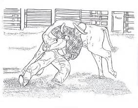 Nice Bucking Bull Coloring Pages Rodeo New For Kids Horse