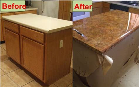Craft Ideas For Kitchen - how to refinish your kitchen counter tops for only 30