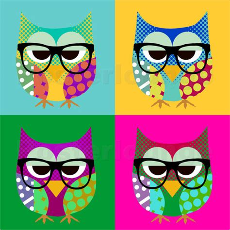bilder pop greennest pop owls poster posterlounge
