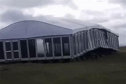 Tent Open Scottish Hector Destroyed Crop
