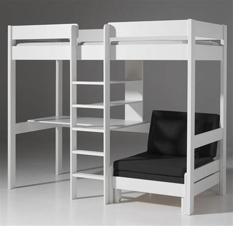 lit mezzanine avec bureau bureau chambre fille