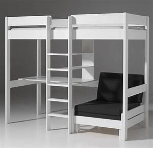 Lit Avec Bureau : lit superpose avec bureau ~ Teatrodelosmanantiales.com Idées de Décoration