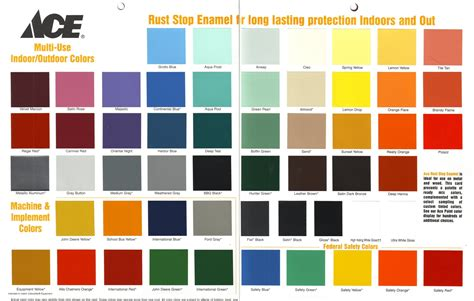 rustoleum spray paint color chart world of printable and