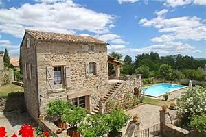 charmante maison en pierre avec piscine 4 5 pers With location maison en ardeche avec piscine