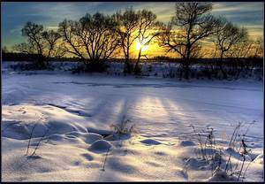 Landscape nature winter sunset snow hdr wallpaper ...