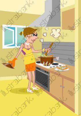 femme qui cuisine femme qui cuisine illustration cuisinant libre de droit sur illustrabank com