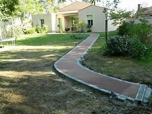amenagement allee de jardin et chemin de pierre en 95 idees With idee allee de jardin