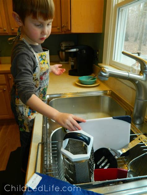 Montessori Washing Dishes   Child Led Life