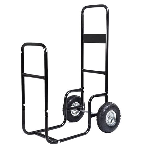 log carrier with wheels firewood carrier hauler wood mover rack caddy cart 7152