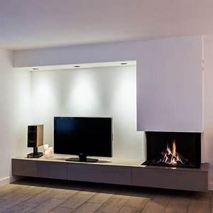 Moderne Tv Wand : haard en tv op 1 wand ~ Sanjose-hotels-ca.com Haus und Dekorationen