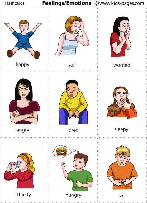 Feelings Flashcards  Use To Help A Be Able To Express How He Is Feeling Rather Than Rage All