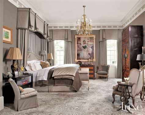 gray classical european master bedroom luxe interiors
