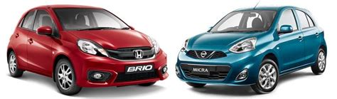 Honda Brio Vs Hyundai I20 by Micra Auto Vs I20 Manual Petrol
