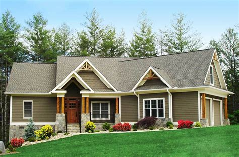 ranch house designs craftsman inspired ranch home plan 15883ge