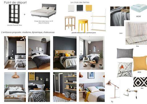 chambre gris et noir chambre noir gris jaune design de maison