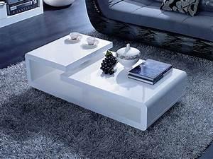 Table Basse Rectangulaire Blanche : table basse rectangulaire morio mdf laqu blanc 53666 ~ Teatrodelosmanantiales.com Idées de Décoration