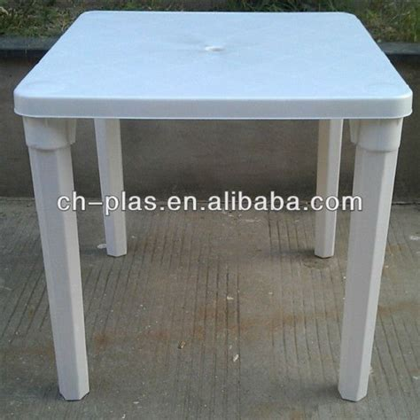 high quality plastic square table with removable legs