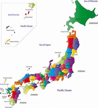 Japan Map Prefectures Cities Japanese Capital