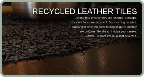recycled leather tiles recycled leather tiles walls wallpaper flooring pinterest