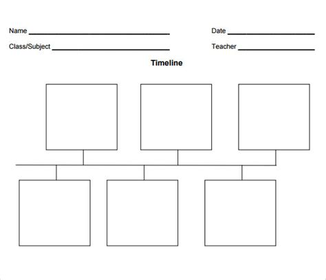 simple timeline template    documents