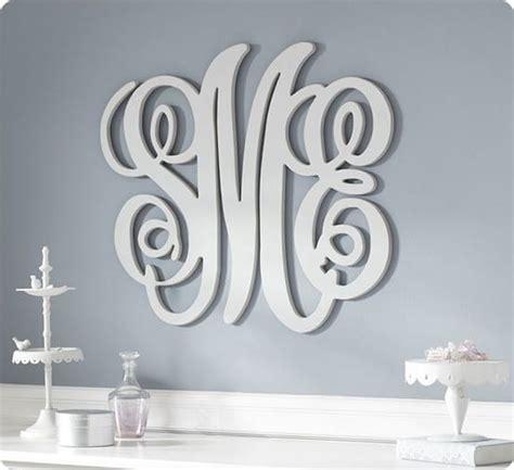custom wood wall monograms
