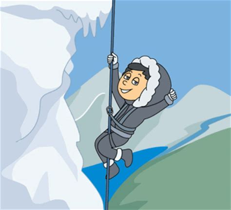 Sports Animated Clipart Mountainclimberhangingfrom