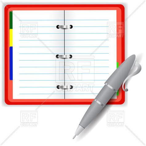 open notebook   vector illustration  objects