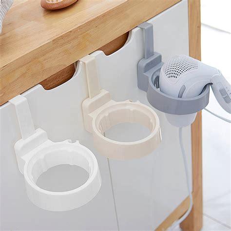 bathroom hair dryer stand organizer shelf storage