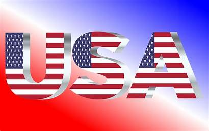 Usa Flag Typography Silver Shiny Clipart Pearl