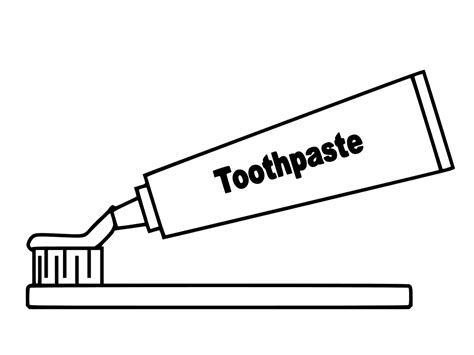 Toothbrush And Toothpaste Coloring Page Toothpaste And Toothbrush Coloring Page Get Coloring Pages