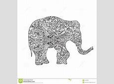 Elephant zentangle stock illustration Illustration of