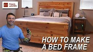 How to Make a Bed Frame with Free Queen Size Bed Frame
