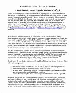 Sample Research Proposal Topics Example Of Example Essays Sample