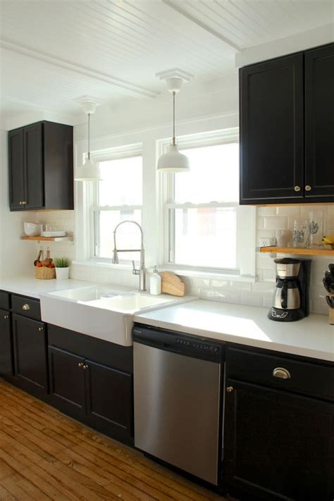Ikea Espresso Kitchen Cabinets by 21 Black Kitchen Cabinets Ideas You Can T Miss New House