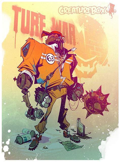 robots character design  illustration  creaturebox