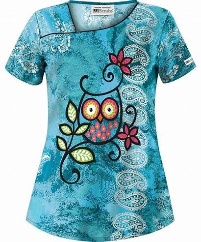 Scrubs Scrub Pattern Stylish Watching Turquoise Ua