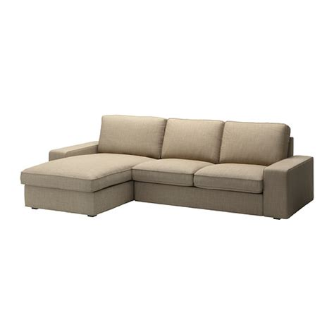 kivik two seat sofa and chaise longue isunda beige ikea